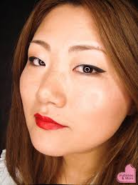 liquid eyeliner tutorial asian winged eyeliner and red lips futilities and more