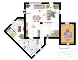 construire sa chambre chambre avec salle d eau 13 maison moderne d233tail du plan de