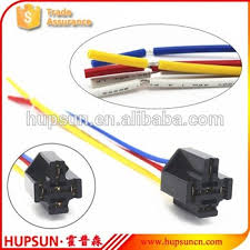 red yellow white blue black wire car relay sockets copper wire