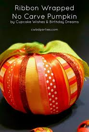 cupcake wishes u0026 birthday dreams ribbon wrapped no carve pumpkin