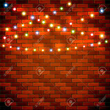 wall christmas lights decorations christmas light on brick wall background holiday decorations