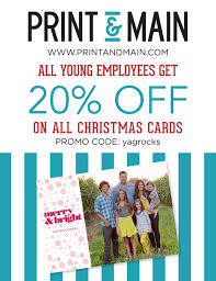 yag employee discount on christmas cards from print u0026 main