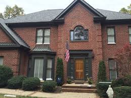 trim color for red brick with light grey roof