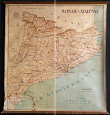 Catalonia Spain Map by Restoration Of Poster From Spanish Civil War Period Rita