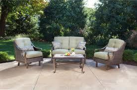 hanover ventura 4 piece wicker outdoor conversation set