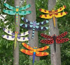 dragonfly wood outdoor yard lawn ornament by chardoman