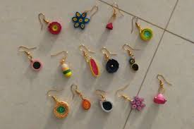 earrings for school light weight quilled earrings craft works school projects