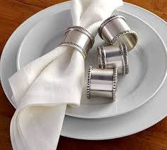 antique silver napkin rings mixed set of 4 pottery barn