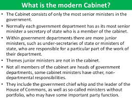 What Is A Government Cabinet The Cabinet