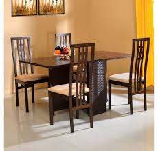 nilkamal kitchen furniture buy 4 seater dining set home nilkamal walnut inside the