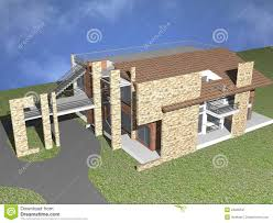 3d duplex house royalty free stock photography image 24606537