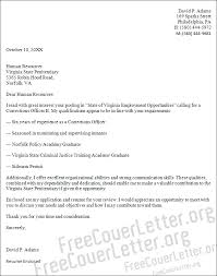 Correctional Officer Resume Examples by Officer Cover Letter Sample