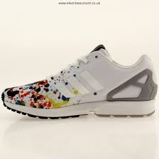 selling mens adidas originals zx flux running ftw white paint