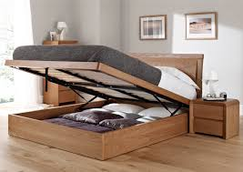 Ottoman Storage Bed Frame by Oak Storage Bed Space Saving Bedroom Furniture Small Space Ideas