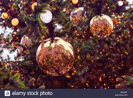 christmas baubles on christmas tree large christmas baubles on