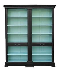 Bookshelves Glass Doors by Furniture Oak Barrister Bookcase With Glass Doors 6 Shelves Lift
