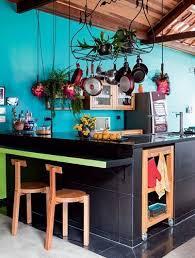 cuisine bleu turquoise cuisine ouverte peinture bleu turquoise tendance peinture bleu