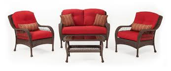 Patio Furniture Set by Bristol Patio Furniture Set Scarlet Red 4 Piece U2013 La Z Boy Outdoor