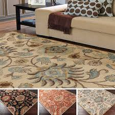 Area Rug 8 X 12 Tufted Alameda Traditional Floral Wool Area Rug 9 X 12