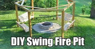Swing Fire Pit by Diy Swing Fire Pit