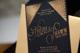 art deco wedding invitations heidi and shawn paper and home