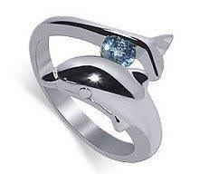 dolphin engagement ring tungsten carbide rings sterling silver dolphin ringjewelry fashion