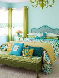 Colour Combination With Blue Excellent Small Bedroom Relaxing Decor Offer Green And Blue Color