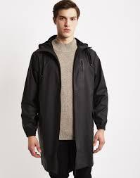 rains parka coat black jackets coats clothing shop at the