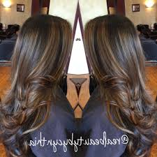 light brown highlights on dark hair pictures of light brown hair with caramel highlights dark brown