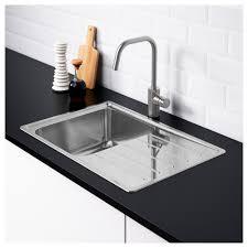 Ikea Drainboard Sink by Vattudalen Inset Sink 1 Bowl With Drainboard Stainless Steel