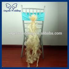 Champagne Chair Sashes Ch098d Fancy New Nice Cheap Organza And Spandex Wedding Tiffany
