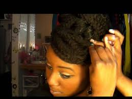 natural hair bun styles with bang natural hair protective style faux bun and faux bang tutorial