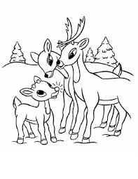 reindeer coloring pages rudolph reindeer friends christmas