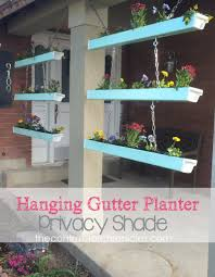 hanging gutter planter privacy shade the contractor chronicles