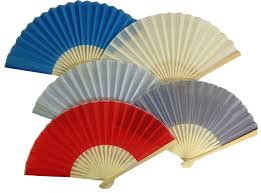 silk fans folding fans solid colors
