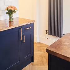 blue kitchen cabinets with copper hardware 75 beautiful kitchen with blue cabinets and copper
