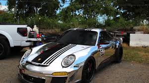 porsche chrome porsche carrera s with chrome vinyl wrapping youtube