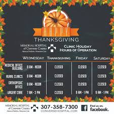thanksgiving assistance thanksgiving clinic hours mhcc douglas wyoming memorial