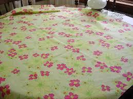 mod decorator fabric vintage 60s 70s daisy flowers u0026 blossoms