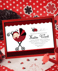 Cheap Baby Shower Invitation Cards Template Ladybug Baby Shower Invitations