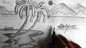 beautiful scenery easy drawing sketches photos easy landscape