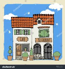 view old european houses vector illustration stock vector