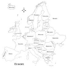Map Of Europe Black And White wandering europe vacation travel planning
