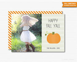 fall greeting card thanksgiving card photo card happy fall y all