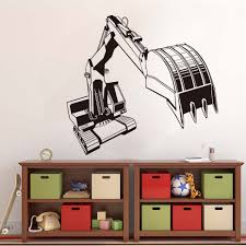 popular wall mural stencils buy cheap wall mural stencils lots high quality large excavator bedroom white creative wall mural sticker mechanical transfer vinyl cut decal stencil