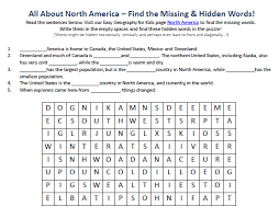 image of north america worksheet free printable geography