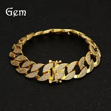 luxury chain bracelet images High end hip hop bracelet men 39 s luxury simulated diamond fashion jpg