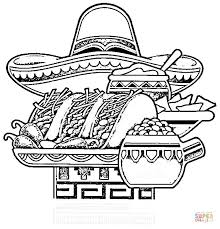 mexican national food coloring page free printable coloring pages