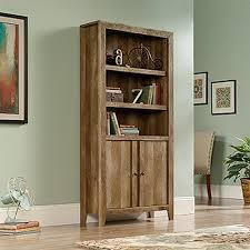 sauder dakota pass craftsman oak storage open bookcase 420409