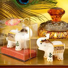 good fortune elephant candles favors traditional indian wedding